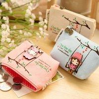 Wholesale Girl S Purses - Wholesale- Ladies wallet mini women bag 2016 Children\\\'s gifts Unisex clutch Cartoon Cute girl coin purse
