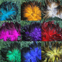 wholesale rooster feathers natural UK - wholesale 10-15cm 100pcs colors rooster natural feather for DIY handmade accessories for hair clothing mask dancing party make-up ornaments