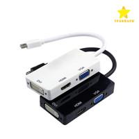 convertidor displayport vga al por mayor-3 en 1 Displayport MINI DP a HDMI DVI VGA Cable adaptador convertidor para PC portátil Apple Macbook