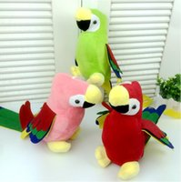 Wholesale Plush Parrot Stuffed Animals - Wholesale- 1pc 48cm Cute Long Tail Parrot Plush Toy Stuffed Colorful Birds Dolls Plush Animal Pendant with sucker Home Car Decoration Gift