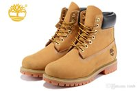 Wholesale Waterproof Winter Boots - Original Classic Timberland Men 6-Inch 10061 Premium Ankle Boots Winter Work Waterproof Outdoor Wheat Nubuck Boots Size 40-46