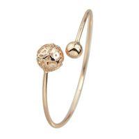 Wholesale Thin Alloy Bangles - New Design Metal Thin Adjustable Cuff Bracelet