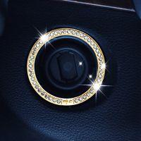 Wholesale Car Engine Wholesale - Crystal Car Engine Start Stop Ignition Key Ring for Mercedes Benz W203 W210 W211 AMG W204 C E S CLS CLK CLA SLK A200 A180 A260