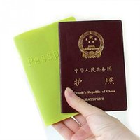 Wholesale Wholesale Purse Dust Bags - Wholesale- Silicone Passport Card & ID Holders Documents Bag Travel Passport Cover Card Case protect passport from wear water dust bend