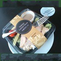 cajas de tapa transparente al por mayor-Contenedor de comida desechable anti niebla Contenedores de comida de plástico con tapas transparentes Cajas de ensalada Contenedores de comida de preparación de alimentos PP 0 9zq KK