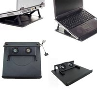 "Wholesale Notebook Cooling Pad Price - Wholesale-Factory price 2 Fan USB Port Cooling Cooler Pad for 14"" 15.6"" 17"" Inch Laptops Notebook Mfeb18 WL1L"