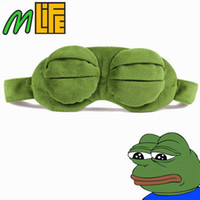 3D Sad Frog Sleep Mask Rest Travel Relax Sleeping Aid Blindfold Ice Cover Eye Patch Sleeping Mask Case Аниме Косплей костюмы