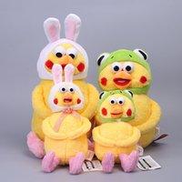 "Wholesale Plush Parrot Stuffed Animals - Hot Sale 9"" 23CM  12.5"" 33CM Japanese Docomo Poinco Put On Parrot Frog Rabbit Hat Plush Doll Stuffed Animals Children Soft Toys Gift"