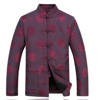 Wholesale Traditional Chinese Winter Jacket - Wholesale- Brand New Arrival Autumn Winter Chinese Traditional Men's Mandarin Collar Thick Coats Wadded Jacket M L XL XXL XXXL MTJ2015073
