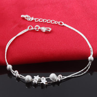 Wholesale Silver 925 Pendent - New Luxury 925 Silver Women Chain & Link Bracelets Charm Pendent Top Sale Friendship Bracelet Bangles Free Shipping