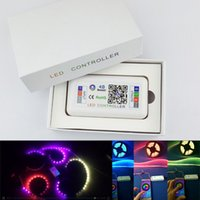 luces de tira llevadas mágicas al por mayor-controlador bluetooth 4.0 de tira led controlador Magic con 200kinds de patrones para luz de tira RGB 12-24v Control de teléfono
