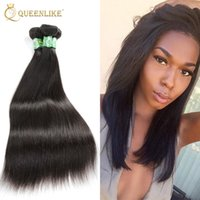 Wholesale Wholesale Hair Extensions Suppliers - Mongolian Virgin hair Weave Bundles Silk Silky Straight 1B Sew In Raw Unprocessed Remy human hair extension Supplier Queenlike Silver 7A