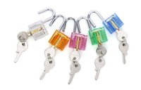 Wholesale Free Colorful Transparent Visible Cutaway Padlock Lock Pick For Locksmith Practice Training door opener auto pick