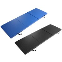 Wholesale Outdoor Yoga Mats - Wholesale- 180*60*5cm Thick Non-slip Folding Panel Gymnastics PU Elastic Yoga Mats Pad Fitness Lose Weight Exercise mats for indoor outdoor