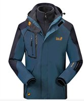 Wholesale Cheap Windproof Fleece - HIGH QUALITY CHEAP HOT SALE Ski-wear, male and female triad two-piece more waterproof breathable mountaineering wear