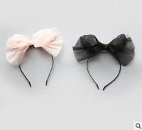 Wholesale Photography Fashion - Girls hair sticks Kids mesh gauze Accessories Children glittering Bows princess hair bands fashion new Children photography headdress C1870