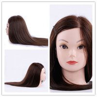 Nuovo arrivo Mannequin Head Parrucchiere Training Head 40% Capelli umani per la sposa Hairdress Thicker Natural Black Hair Dummy