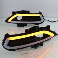 Wholesale Daytime Running Lights Led Mondeo - Car Flashing 1 set for Ford Mondeo 2013 2014 2016 LED DRL Daytime Running Light Daylight Waterproof Signal car Styling lights