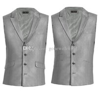 Wholesale Double Breasted Black Mens Vest - new arrival prom tuxedos vests 2017 wedding grom vests mens tuxedos for prom wedding eveing party dinner