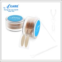 Wholesale Double Eyelid Tape Roll - Wholesale- 1 Roll = 600pcs ACARE Thick Type Eyelid Sticker Tape Invisible Fiber Double Side Adhesive Eyelid Stickers with Free 2x Forks