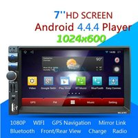 Wholesale Gps Bluetooth A2dp - 2PCS 701A 7'' Car Radio Media Player Android 4.4.4 Dual-core Bluetooth A2DP Touch Screen GPS Stereo Audio MP4 5 Player