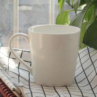 Wholesale Fine Mug - Ceramic Super White Coffee Mugs And Cups Fine Bone China Espresso Cup Breakfast Milk Tea Water Mug Drinkware Gift ZA3301
