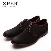 Wholesale Men Dress Black Shoes Wholesale - XPER Casual Men Dress Shoes Lace-Up Wear Comfortable Men Wedding Shoes #YM86518BL BU