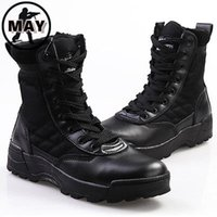 Wholesale Side Zipper Combat Boots - Wholesale-Men's Boots Original SWAT Special Force Combat Side-Zipper Work Security Boots