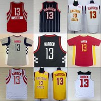 Wholesale Flash 13 - MENS Basketball Jerseys James Harden Arizona State Sun Devils College Stitched Men's #13 James Harden Jersey Yellow Red White
