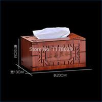 Wholesale Tissue Idea - Wholesale- Grade wood tissue decorative box covers,room desktop pumping tissue box ideas,Black walnut car tissue boxes,Free Shipping J16090
