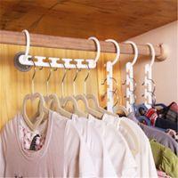 Wholesale Clothes Rack Closet - Multifunction Wonder Magic Hanger Rack with Hook Home Clothes Hanger Closet Organizer Space Saver Clothing Storage Racks