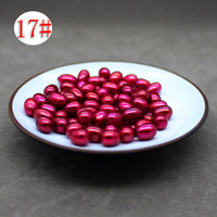 Wholesale green fresh water pearl for sale - AAA grade mm natural round fresh water scattered pearl red green various colors choose DIY jewelry birthday gift
