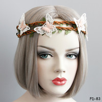 Fascia di fiore della principessa Corona artificiale della corona Garland Hairband Bohemian Lolita Beach Party Lei corona elastica Headwear Head Bands for Women