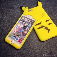 Wholesale Pokemon Iphone - 3D Poke Pikachu Soft Silicone Case For Iphone 6 6S Plus I6S 5 5S Samsung Galaxy J1 J3 J5 J7 2016 Grand Prime Duos Cartoon Rubber Phone Cover
