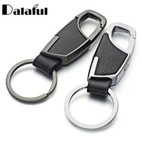 Wholesale Ring Holders For Women Wholesale - 2017 New High Quality Leather Keyrings KeyChains For Car Chaveiro Innovative Key Chains Rings Holder For Man Best Gift K264