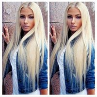 Wholesale white hair weave resale online - Full Lace Wigs Best Virgin Hair Wig Brazilian Hair In The Front Of The Wig Is Full Of My Shoes No Tail Weaving Wig White Woman