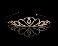 New Style Kids Princess Rhinestone Crystal Tiara Hair Band Kid Girl Princesse de mariée Princesse Crown Headband Vente en gros Bijoux en or