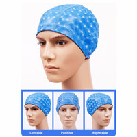 Wholesale Waterproof Fabric Swim Cap - Wholesale- Elastic PU Fabric Waterproof Protect Ears Long Hair Sports Swim Pool Hat Swimming Cap For Men Women Adults
