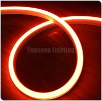 bandes de lumière led orange achat en gros de-Date style 50m 12V bobine bande flexible Plat ultra mince orange led néon éclairage néon-flex corde 2835smd