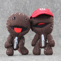Wholesale Knit Doll Wholesale - Wholesale-15cm 2styles Little Big Planet LBP Plush Toy Sackboy Cuddly Knitted Stuffed Doll Toys Cute Kids Animal doll