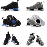 Wholesale New Sock Boots - 2017 New Cheap NMD Runner PK City Sock Men Women Classic Running Shoes Fashion Primeknit nmd Grey Black Sports Sneakers Boots Trainers 36-44