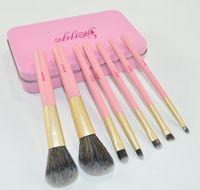fazer a lata venda por atacado-Profissionais de lata-de-rosa 7 conjunto de pincel de maquiagem iniciantes um conjunto completo de ferramentas de maquiagem Kit de higiene pessoal Make Up Blush Brush Set