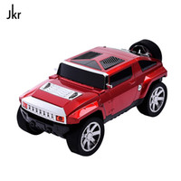 Wholesale Kids Radio Player - Jeep Car Model Bluetooth Speaker Stereo Hifi Portable Subwoofer Wireless Loudspeaker TF USB MP3 Music Player FM Kids' Xmas Gift