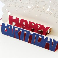 Wholesale Cutout Invitations - Highly Personality 3D Pop UP Card Birthday Greeting &Gift Cards Cutout Handmade Invitations 10pcs lot