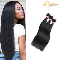 Factory 7APeruvian Malaysian Indian Brazilian Straight Extensions de cheveux vierges Gaga Queen Hair 3Bundles Deal Virgin Brazilian Hair Bundle