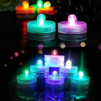 Wholesale TEA LIGHT SUBMERSIBLE WATERPROOF LED DECOR FLORAL LIGHTS WEDDING Christmas Valentine PARTY table Vase centerpiece Decor colors