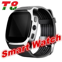 T8 Bluetooth Smart Watch Support SIM TF Card Avec Camera Sync Call Message Hommes Femmes Smartwatch Watch pour Android