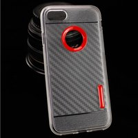 Wholesale Cheap Clear Cell Phone Cases - For iPhone 7 Plus 6S Plus 5S TPU PC Clear Cheap Hybrid Cell Phone Case Durable Transparent Colorful Fashionable Soft Cover