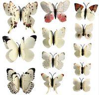 Wholesale Televisions Sets - 12 Pcs set PVC 3D Magnet Butterfly Wall Stickers Butterflies Decors for Wedding Party Home Kitchen Fridge Decoration G662