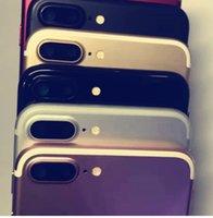 iphone logement de remplacement noir achat en gros de-Black Sliver Gold 3 Coloris MN Pièces de rechange Logement total Logement de couvercle de batterie arrière pour 7 7G PLUS avec Flex et bouton